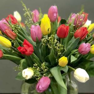 Ramo de tulipones coloridos - Fiuncho - Floritas de Santiago