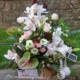 centro-flores-Verino-en caja de madera-peluche
