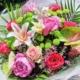 Ramo Midori flores variadas temporada Fiuncho santiago